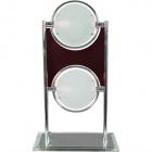 Table Lamp SINOP 2xG9 L.26xW.16xH.45cm Red/Chrome