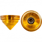 Yellow glass end stone with screw thread D.4,5cm and 1 hole D.1cm.