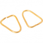 Brass triangular ring 0,89x0,7xD.0,08cm