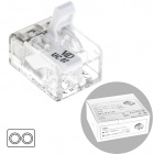Transparent compact connector for cable 2 poles 0,2-4mm (box 100pcs)
