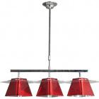 Ceiling Lamp VIDEL 3xG9 L.63xW.25xH.Reg.cm Acrylic Red