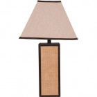 Table Lamp OTÍLIA square 1xE27 L.36xW.36xH.65cm Brown/Beije