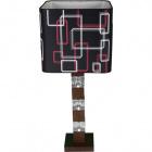Table Lamp ALISON 1xE27 L.26xW.26xH.60cm Black/Brown