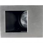 Downlight PROMETHEUS rectangular 1xGX5.3 L.12xW.9xH.0,3cm Satin Nickel