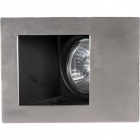 Downlight PROMETHEUS rectangular 1xGU10 L.12xW.9xH.0,3cm Satin Nickel