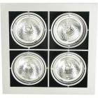 Downlight HEFESTO square 4xG53 AR111 L.35xW.35xH.0,3cm Grey
