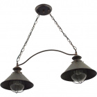 Ceiling Lamp BOLZANO 2xE27 L.76xW.25xH.Reg.cm Brown